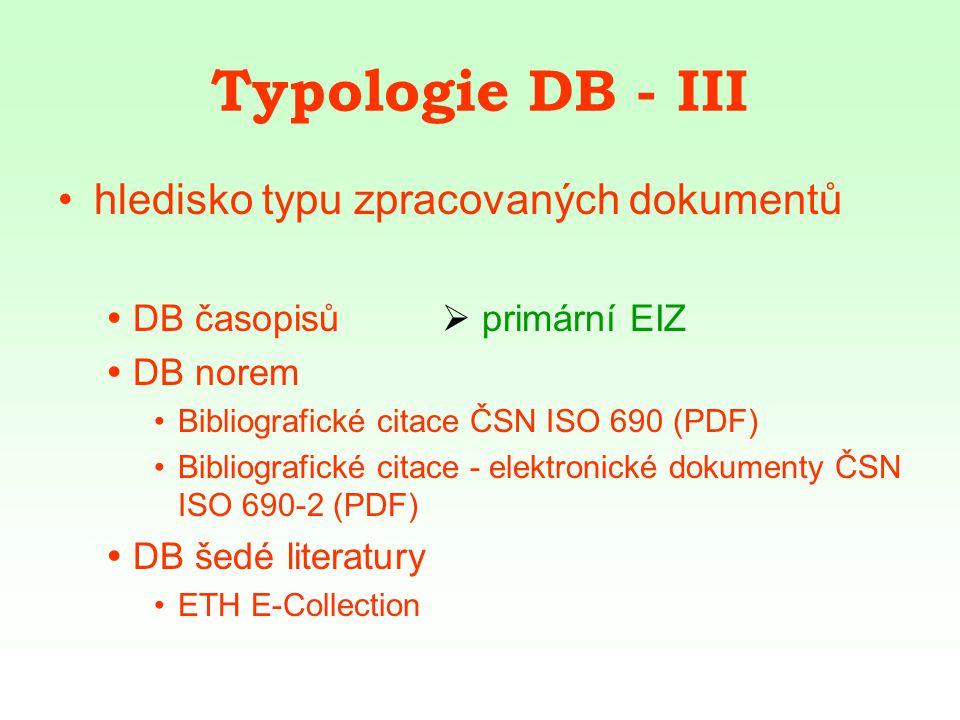 EZB Elektronická knihovna časopisů