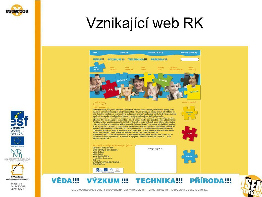 Kontaktní údaje RK Kontaktní místo pro laickou i odbornou veřejnost v podnikatelském inkubátoru VŠB- TUO Tým:  Ivana Češková (práce s mládeží) tel.: 733627889, e-mail: ivana.ceskova@vsb.cz  Klára Janoušková (manažerka projektu) tel.: 733627896, e-mail: klara.janouskova@vsb.cz  Šárka Želinská (PR) tel.: 733627898, e-mail: sarka.zelinska @vsb.cz