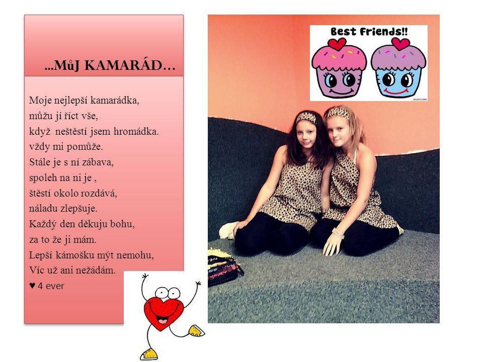 … Můj kamarád… Kdo říkal že kamarádi musí být jen člověk ?.
