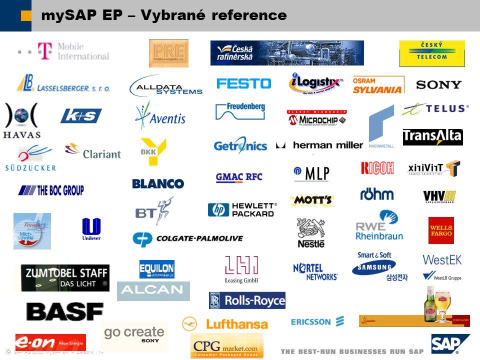  SAP AG 2002, mySAP EP, P. Železník / 14 mySAP EP – Vybrané reference