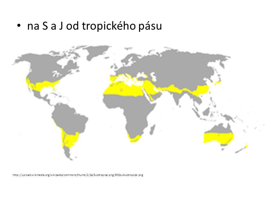 Typy krajiny: 1.Pouště nacházejí se na S a J okraji subtropického pásu oáza – místo v blízkosti vody Podnebí – velmi suché, horké, vysoké teploty ve dne, nízké v noci