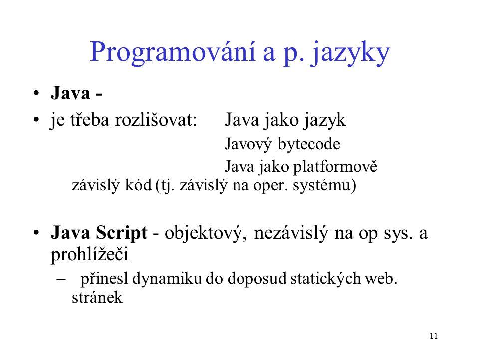 11 Programování a p.