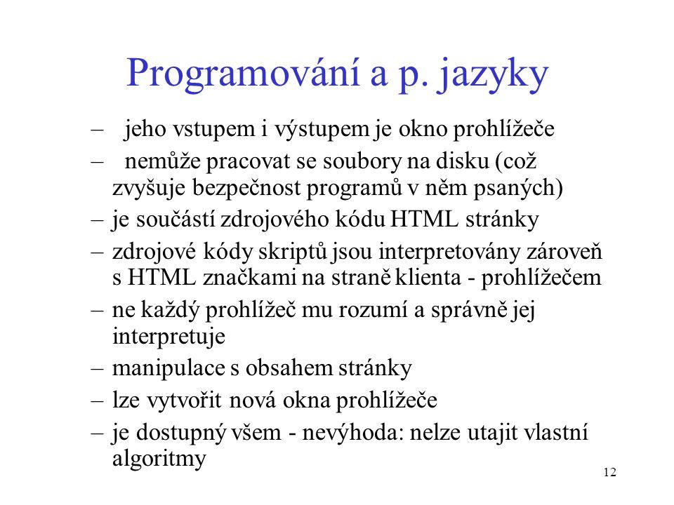 12 Programování a p.