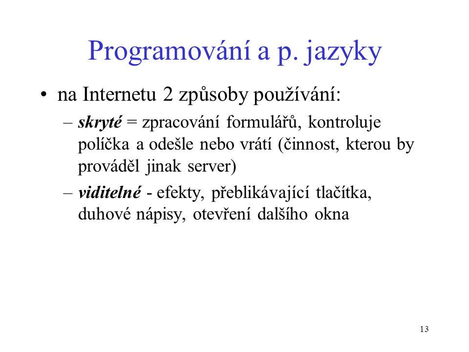 13 Programování a p.