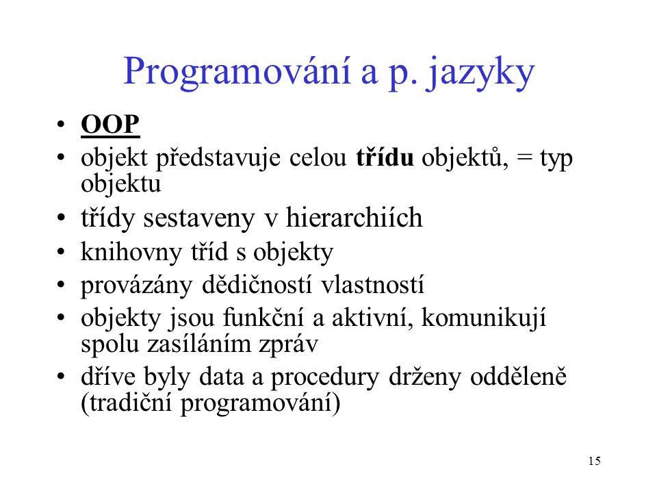 15 Programování a p.