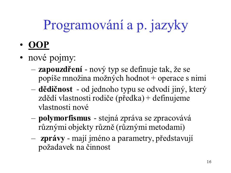 16 Programování a p.