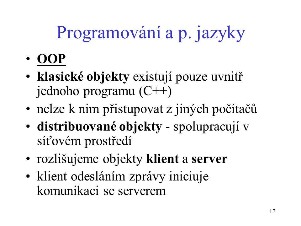 17 Programování a p.