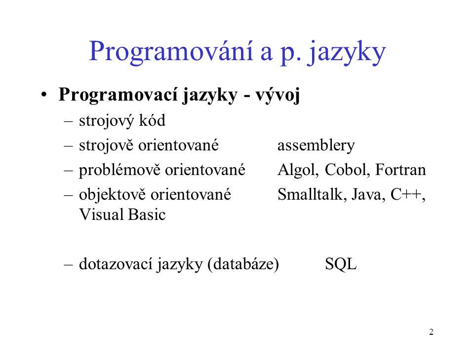 2 Programování a p.