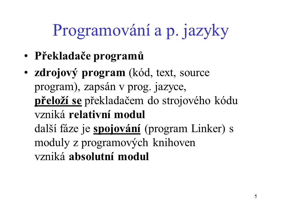 5 Programování a p.