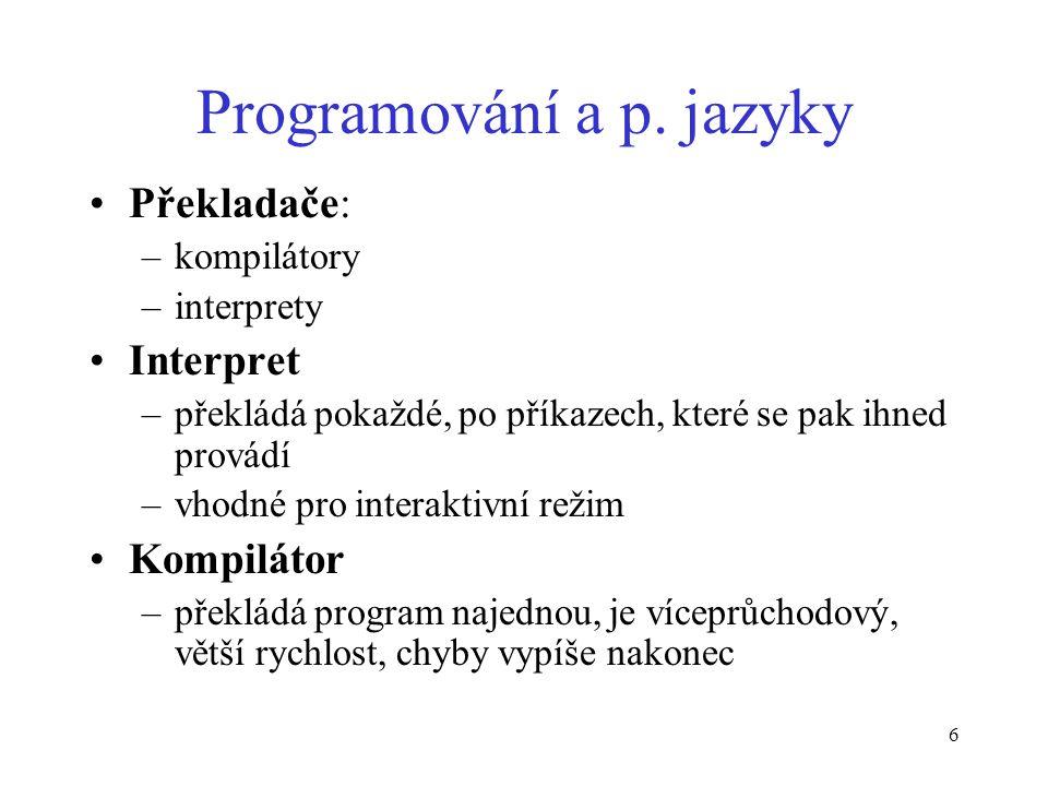 6 Programování a p.