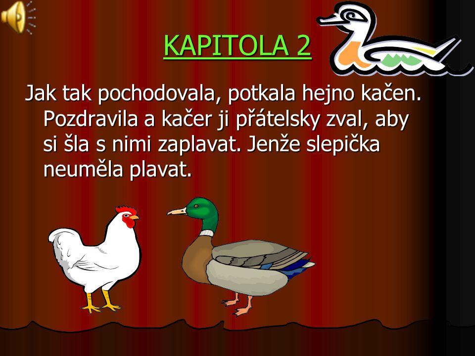 KAPITOLA 2 Jak tak pochodovala, potkala hejno kačen.