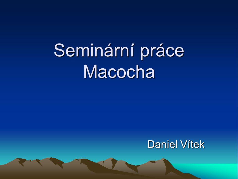 Seminární práce Macocha Daniel Vítek