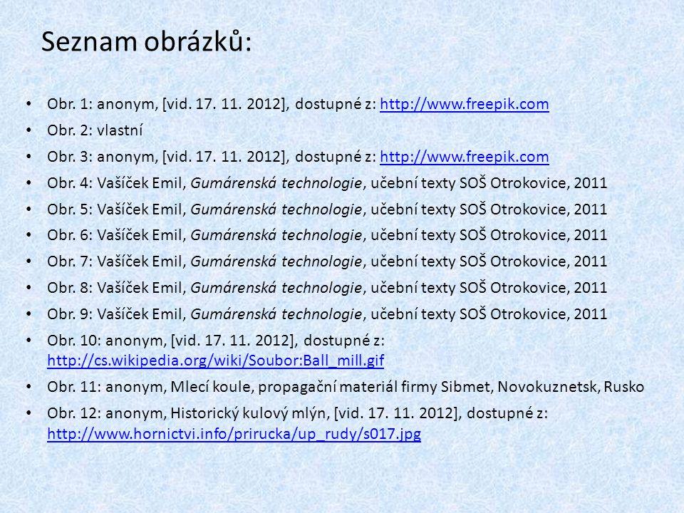 Seznam obrázků: Obr. 1: anonym, [vid. 17. 11. 2012], dostupné z: http://www.freepik.comhttp://www.freepik.com Obr. 2: vlastní Obr. 3: anonym, [vid. 17