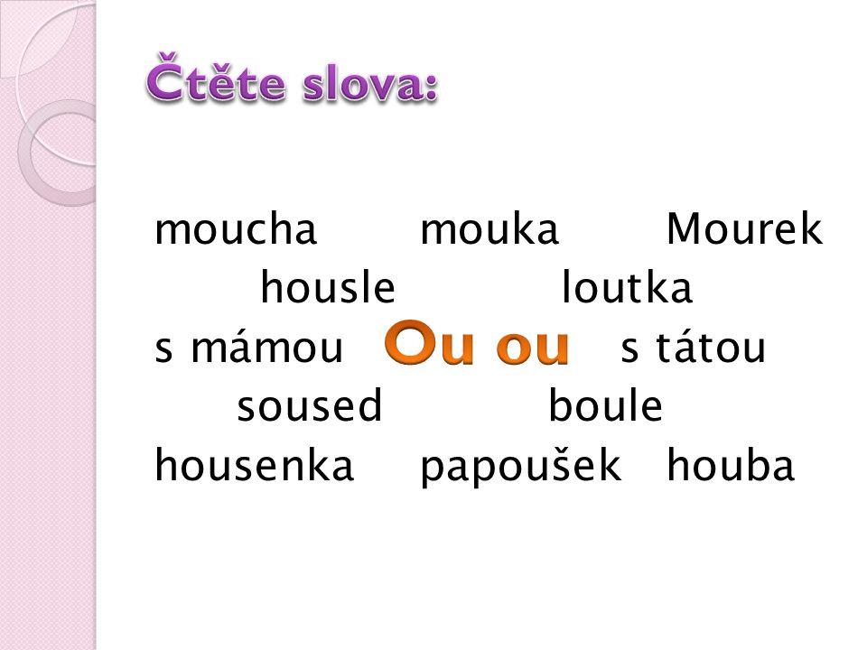 moucha mouka Mourek housle loutka s mámou s tátou soused boule housenka papoušekhouba