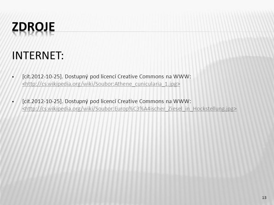 INTERNET:  [cit.2012-10-25]. Dostupný pod licencí Creative Commons na WWW: 13
