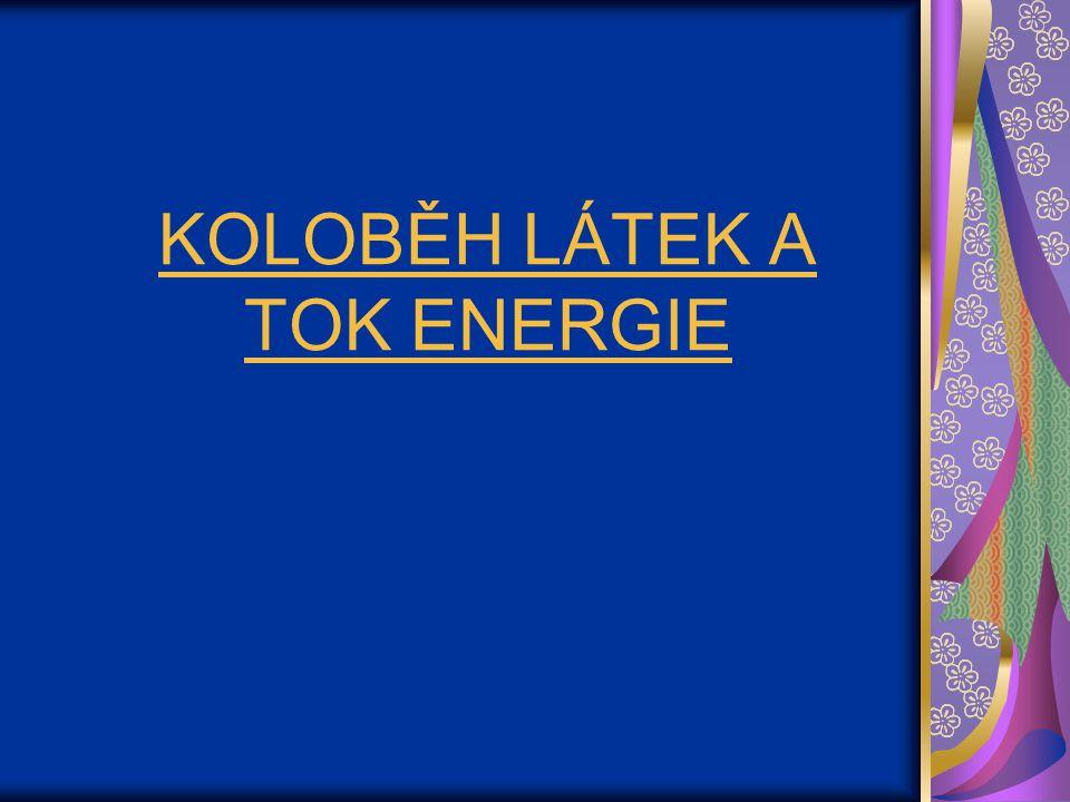 KOLOBĚH LÁTEK A TOK ENERGIE