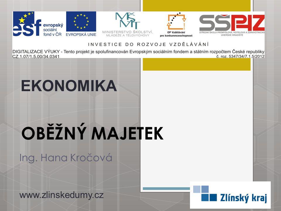 OBĚŽNÝ MAJETEK Ing. Hana Kročová EKONOMIKA www.zlinskedumy.cz