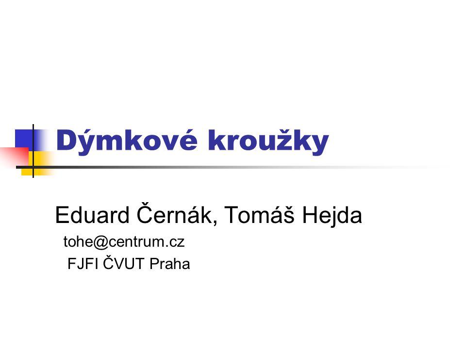 Dýmkové kroužky Eduard Černák, Tomáš Hejda tohe@centrum.cz FJFI ČVUT Praha