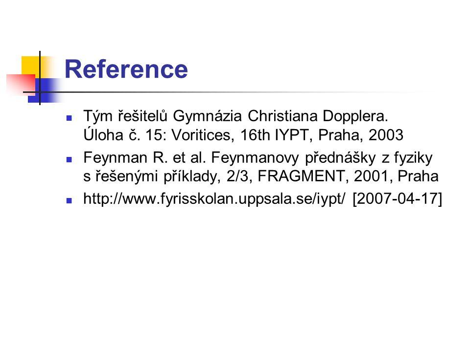 Reference Tým řešitelů Gymnázia Christiana Dopplera.