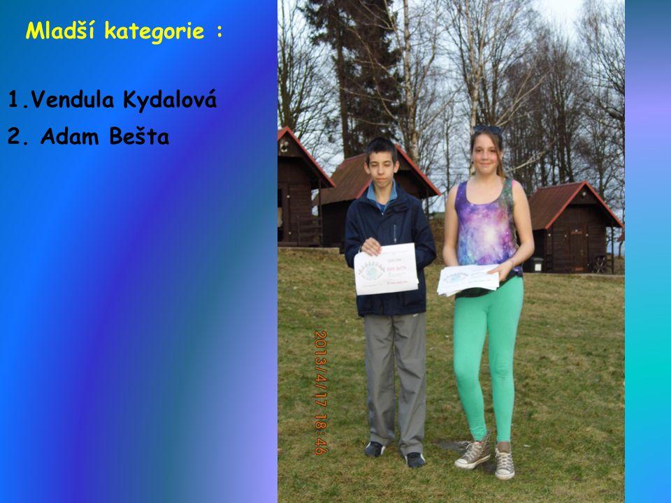 Starší kategorie : 1.Jan Kroužek 3.Tereza,Eliška,Michal,Radim