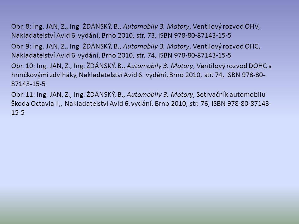 Obr. 8: Ing. JAN, Z., Ing. ŽDÁNSKÝ, B., Automobily 3. Motory, Ventilový rozvod OHV, Nakladatelství Avid 6. vydání, Brno 2010, str. 73, ISBN 978-80-871