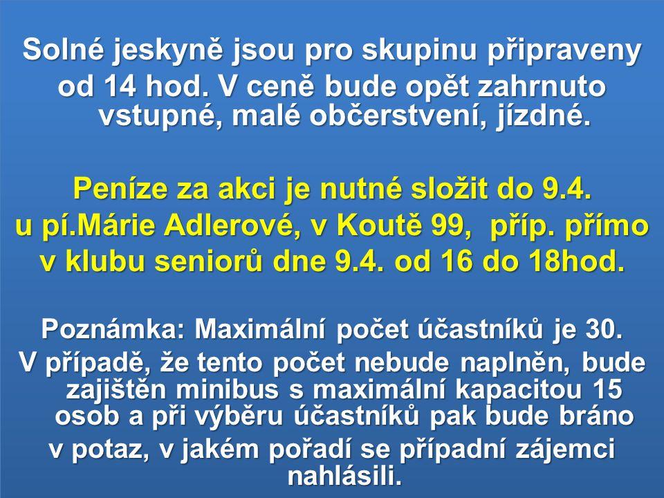 Oznámení Odjezd autobusu na divadelní představení do Boleradic je v sobotu 10.4.2010 v 18:30 hod.