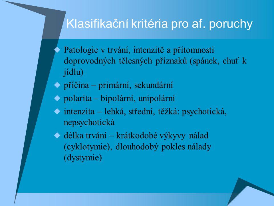 Bipolární afektivní porucha  Stejná kritéria pro děti jako pro dospělé  Střídání manických a depresivních epizod, resp.
