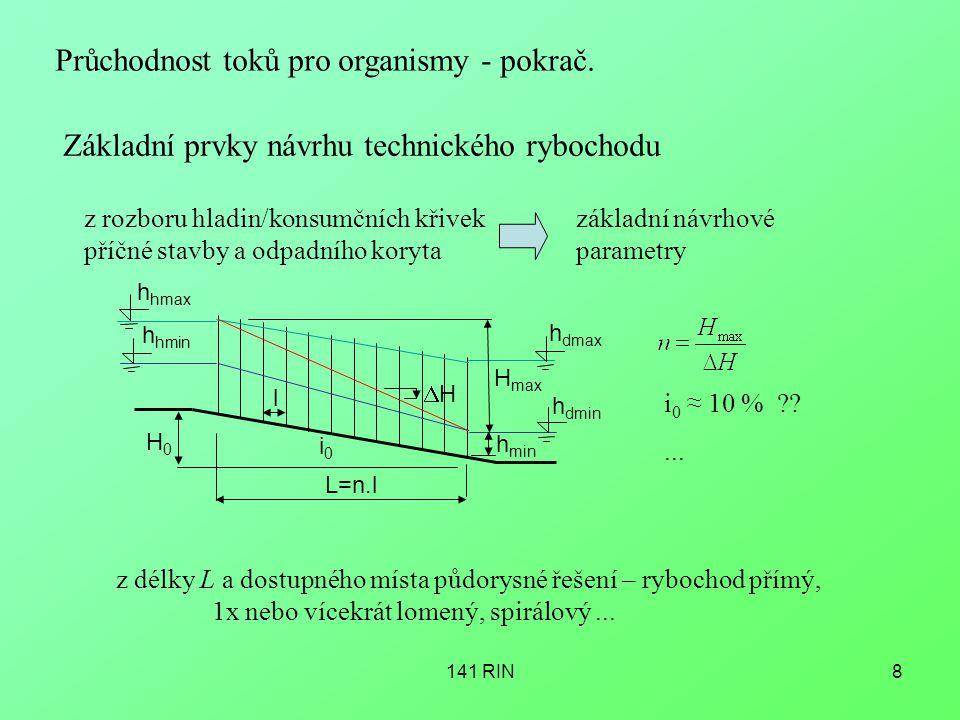 141 RIN8 Průchodnost toků pro organismy - pokrač.
