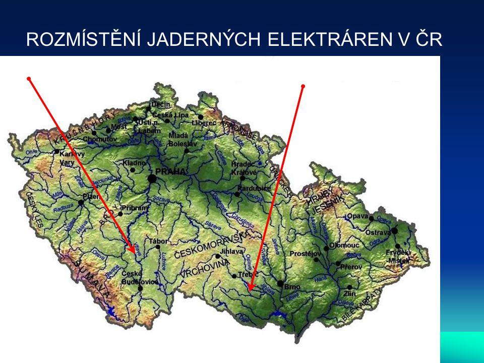 TEMELÍN DUKOVANY ROZMÍSTĚNÍ JADERNÝCH ELEKTRÁREN V ČR