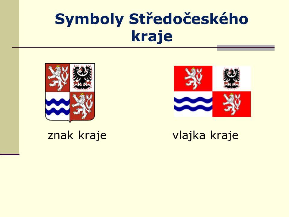 Symboly Středočeského kraje znak kraje vlajka kraje