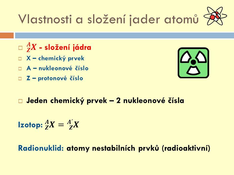 Vlastnosti a složení jader atomů