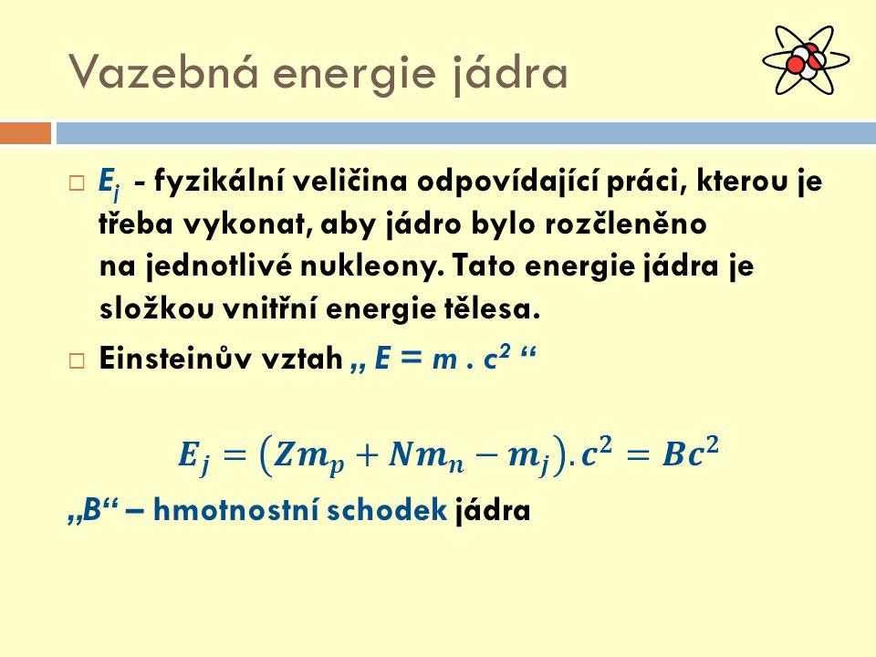 Vazebná energie jádra