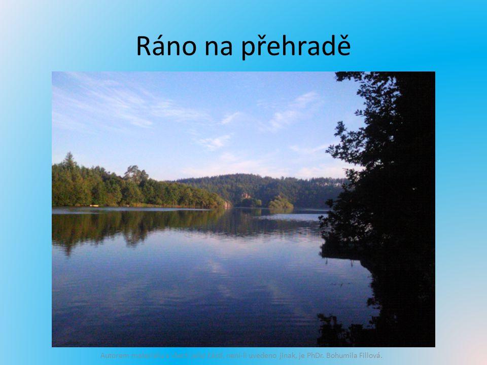 Ráno na přehradě Autorem materiálu a všech jeho částí, není-li uvedeno jinak, je PhDr.