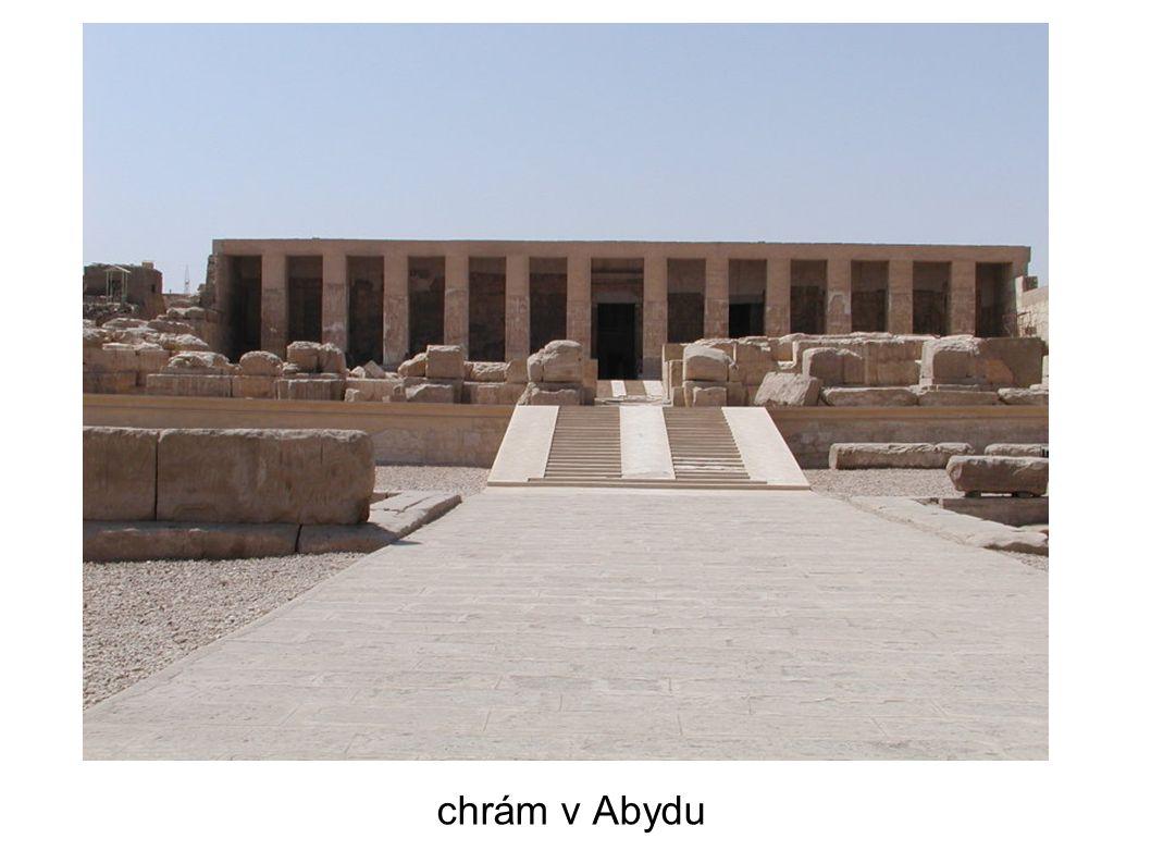chrám v Abydu