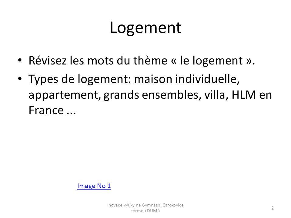 Logement Révisez les mots du thème « le logement ». Types de logement: maison individuelle, appartement, grands ensembles, villa, HLM en France... Ima