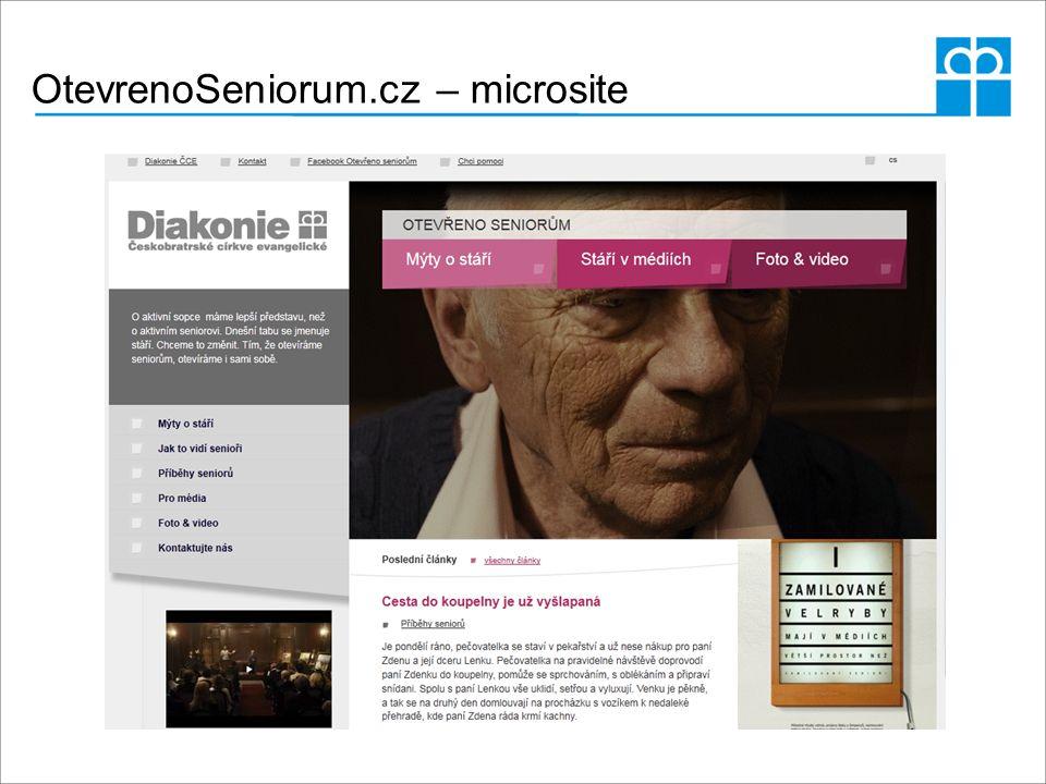 OtevrenoSeniorum.cz – microsite