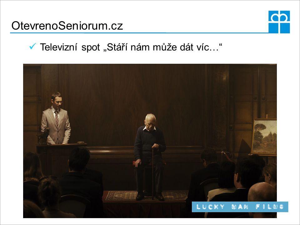 """OtevrenoSeniorum.cz Televizní spot """"Stáří nám může dát víc…"""