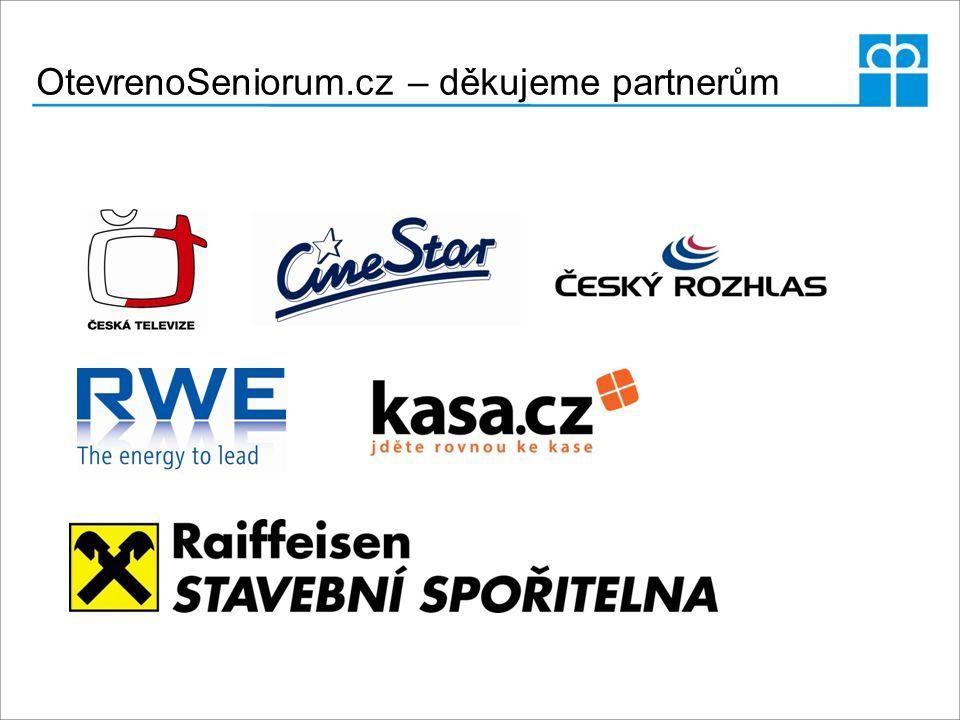 OtevrenoSeniorum.cz – děkujeme partnerům