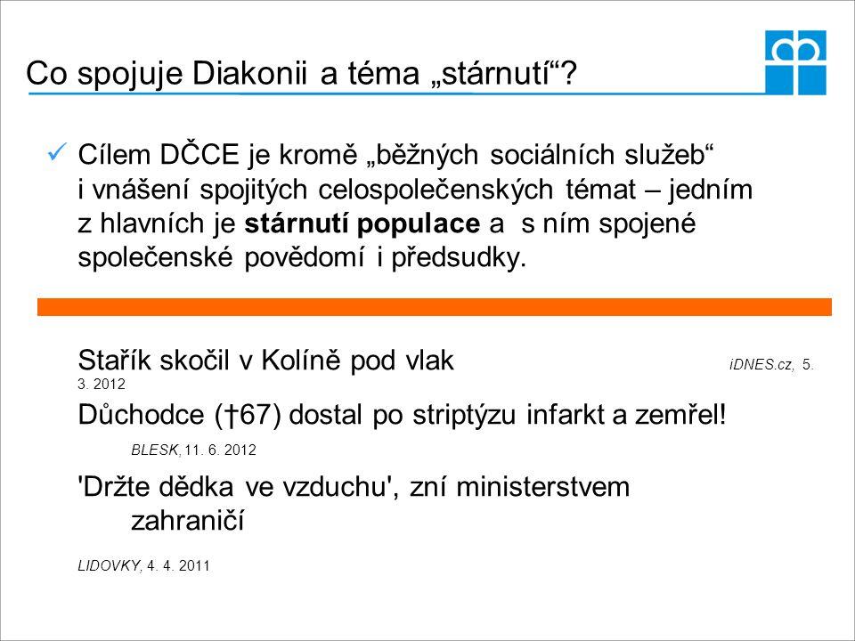 """Co spojuje Diakonii a téma """"stárnutí""""? Cílem DČCE je kromě """"běžných sociálních služeb"""" i vnášení spojitých celospolečenských témat – jedním z hlavních"""
