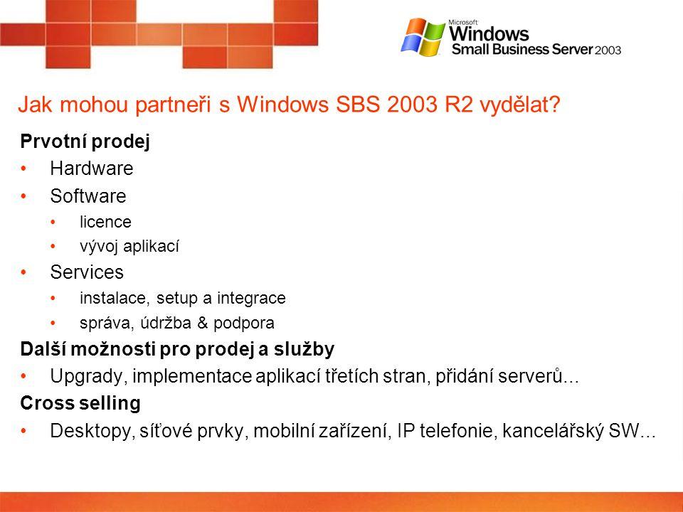 Jak mohou partneři s Windows SBS 2003 R2 vydělat.