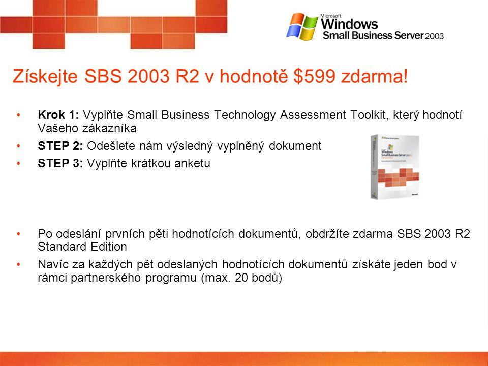 Získejte SBS 2003 R2 v hodnotě $599 zdarma.