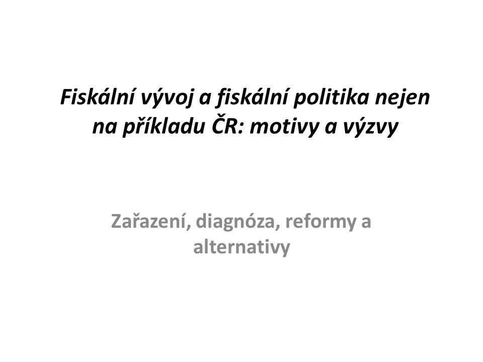 Fiskální vývoj a fiskální politika nejen na příkladu ČR: motivy a výzvy Zařazení, diagnóza, reformy a alternativy