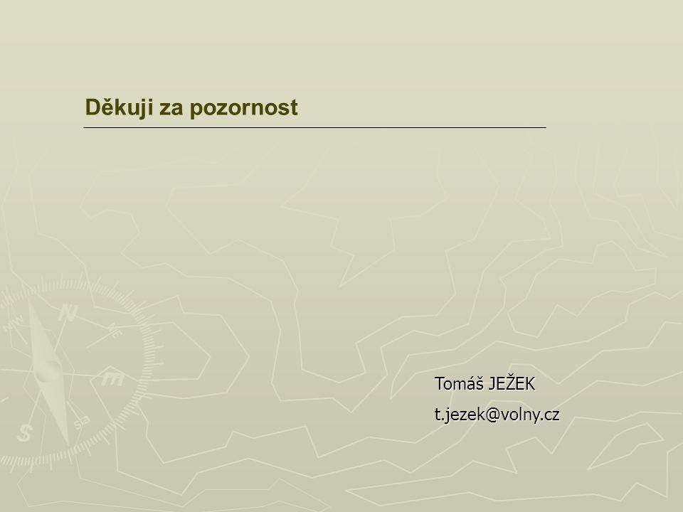 Děkuji za pozornost Tomáš JEŽEK t.jezek@volny.cz