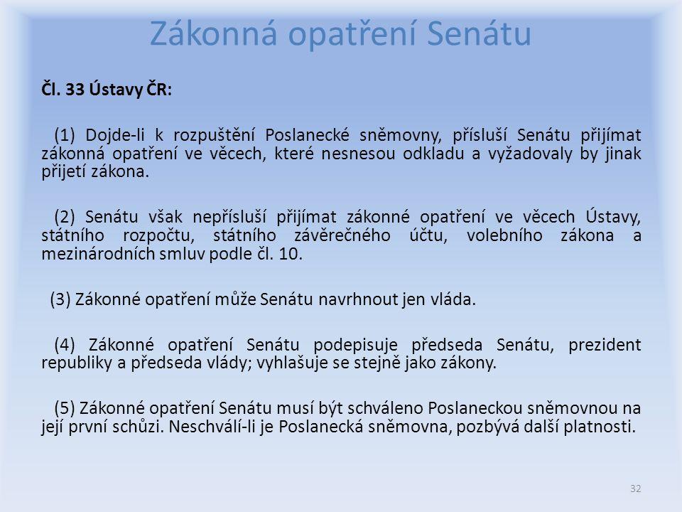 Zákonná opatření Senátu Čl.