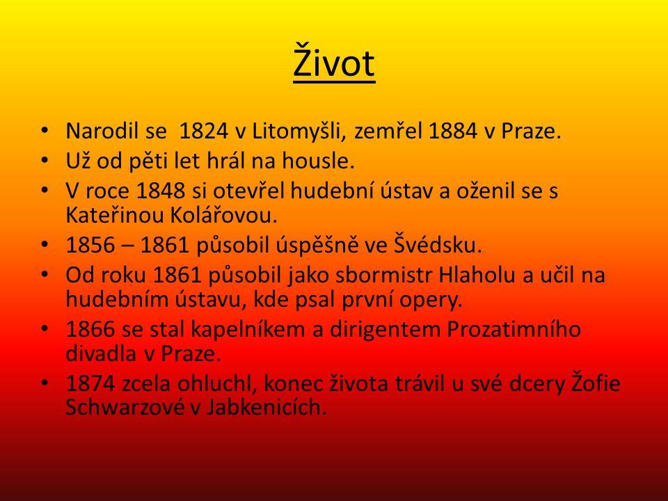 Život Narodil se 1824 v Litomyšli, zemřel 1884 v Praze. Už od pěti let hrál na housle. V roce 1848 si otevřel hudební ústav a oženil se s Kateřinou Ko