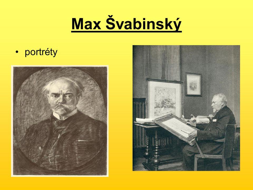 Max Švabinský portréty