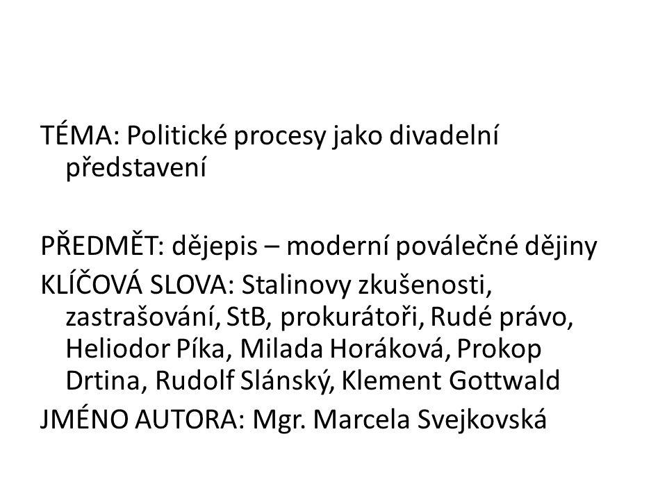Z dopisů na rozloučenou Libuše Šafránková čte poslední dopis Milady Horákové zde: http://www.moderni-dejiny.cz/clanek/cteny- posledni-dopis-dr-milady-horakove-z- pankracke-cely-smrti/http://www.moderni-dejiny.cz/clanek/cteny- posledni-dopis-dr-milady-horakove-z- pankracke-cely-smrti/ (Pozn.