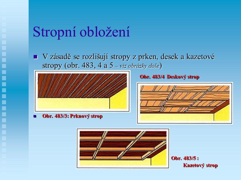 Stropní obložení Nosnou konstrukci je nutno pečlivě připevnit, protože na ní spočívá celá tíha stropního obložení.