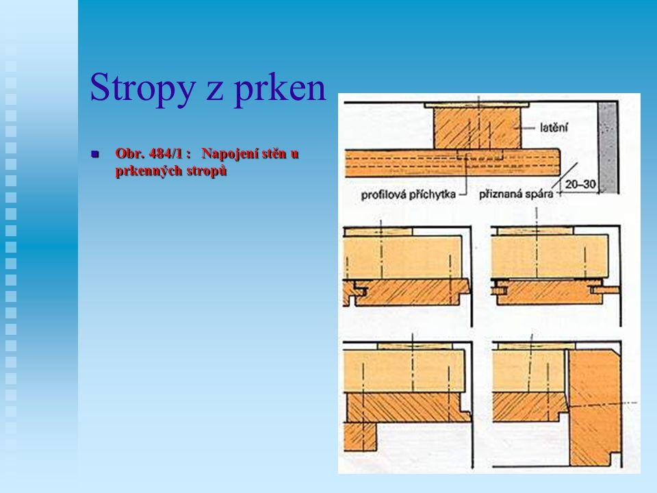 Stropy z prken Nejčastěji se pro stropy z prken používají palubky tl.