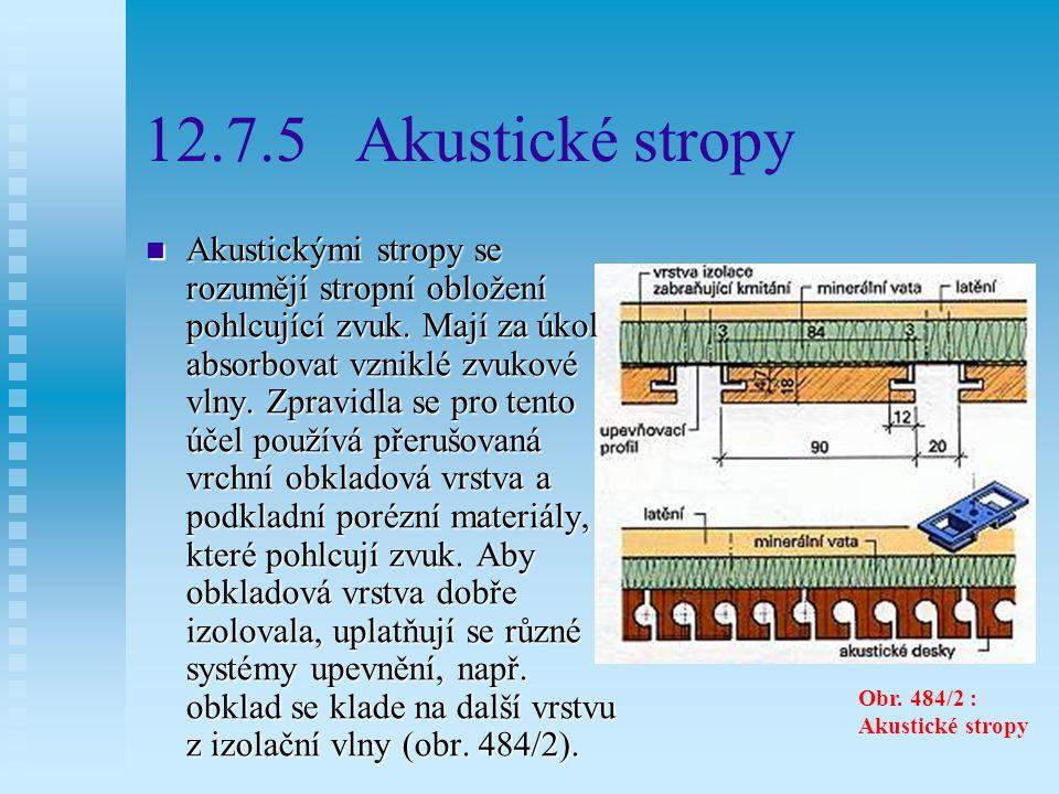 Kazetové stropy Obr. 486/2: Kazetové stropy